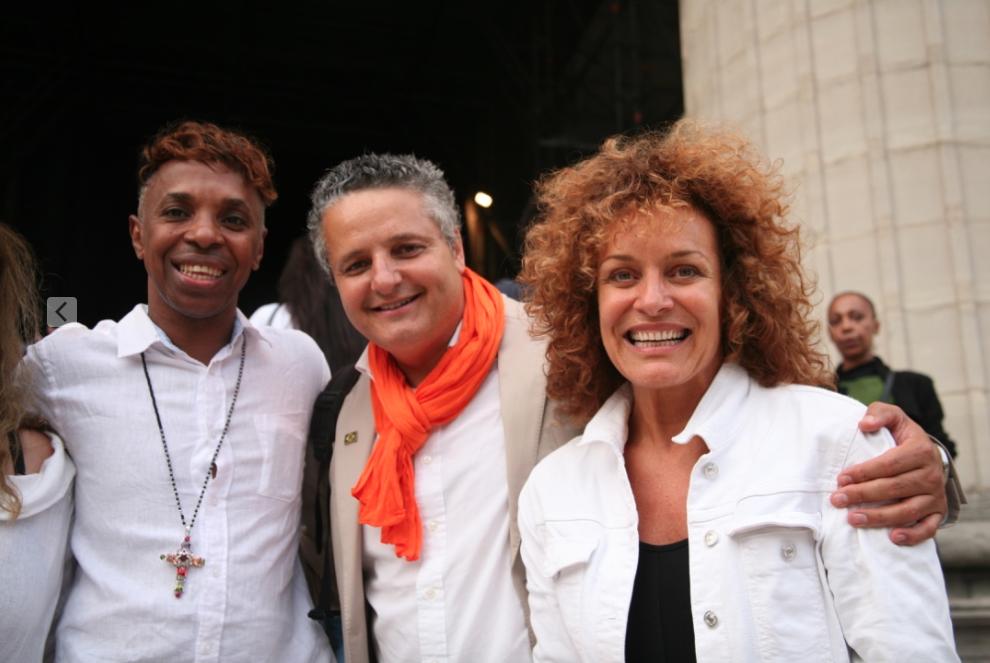 Roberto Chaves, Antonio Cançado de Araujo et Marcia Grandini au Lavage de la Madeleine