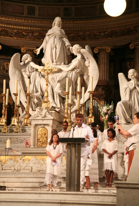 Cérémonie oecuménique, ouverture du Lavage de la Madeleine