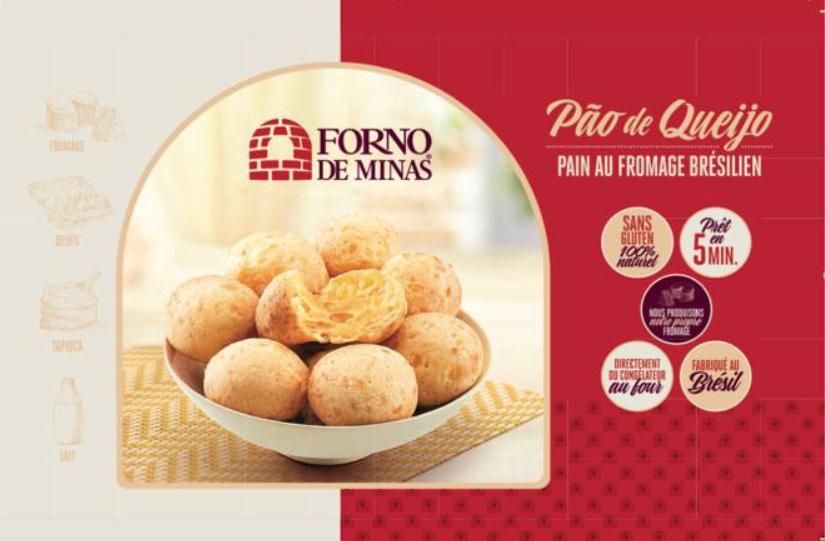 Pao de Queijo , SANS GLUTEN, importé du Brésil, prêt en 5 minutes, nous produisons nous mêmes notre formage, directement du congélateur au four Forno de Minas, marque de référence du Pao de Queijo au Brésil