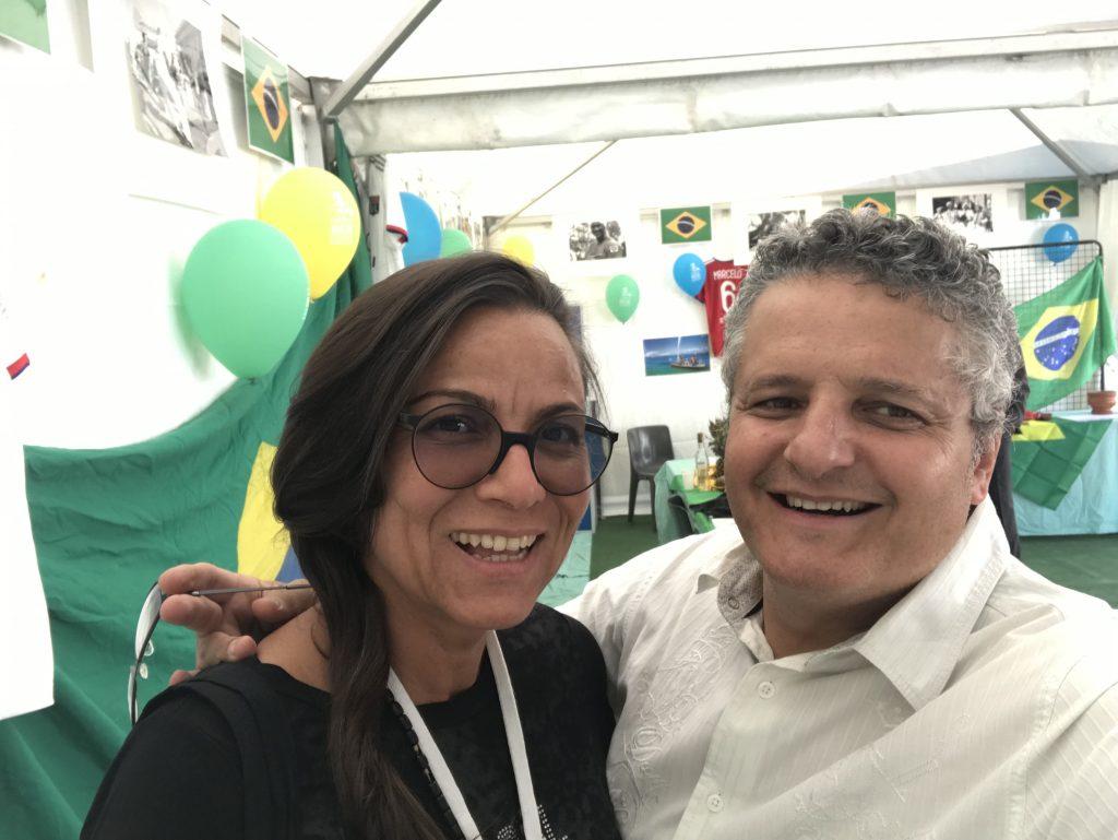 Louisa Monteiro, Brasileiros Sem Fronteiras , responsável da cobertura mediática do Pavilhão do Brasil nas Festas Consulares de Lyon 2019