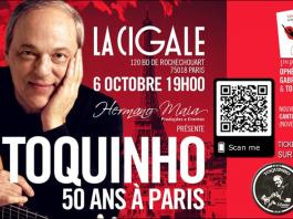 Toquinho, 50 ans de musique à Paris La Cigale le 6 octobre 2019